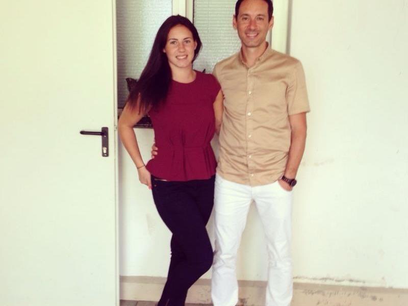 Vater und Tochter vereint: SW Bregenz-Erfolgscoach Mladen Posavec mit Tochter Veronika.