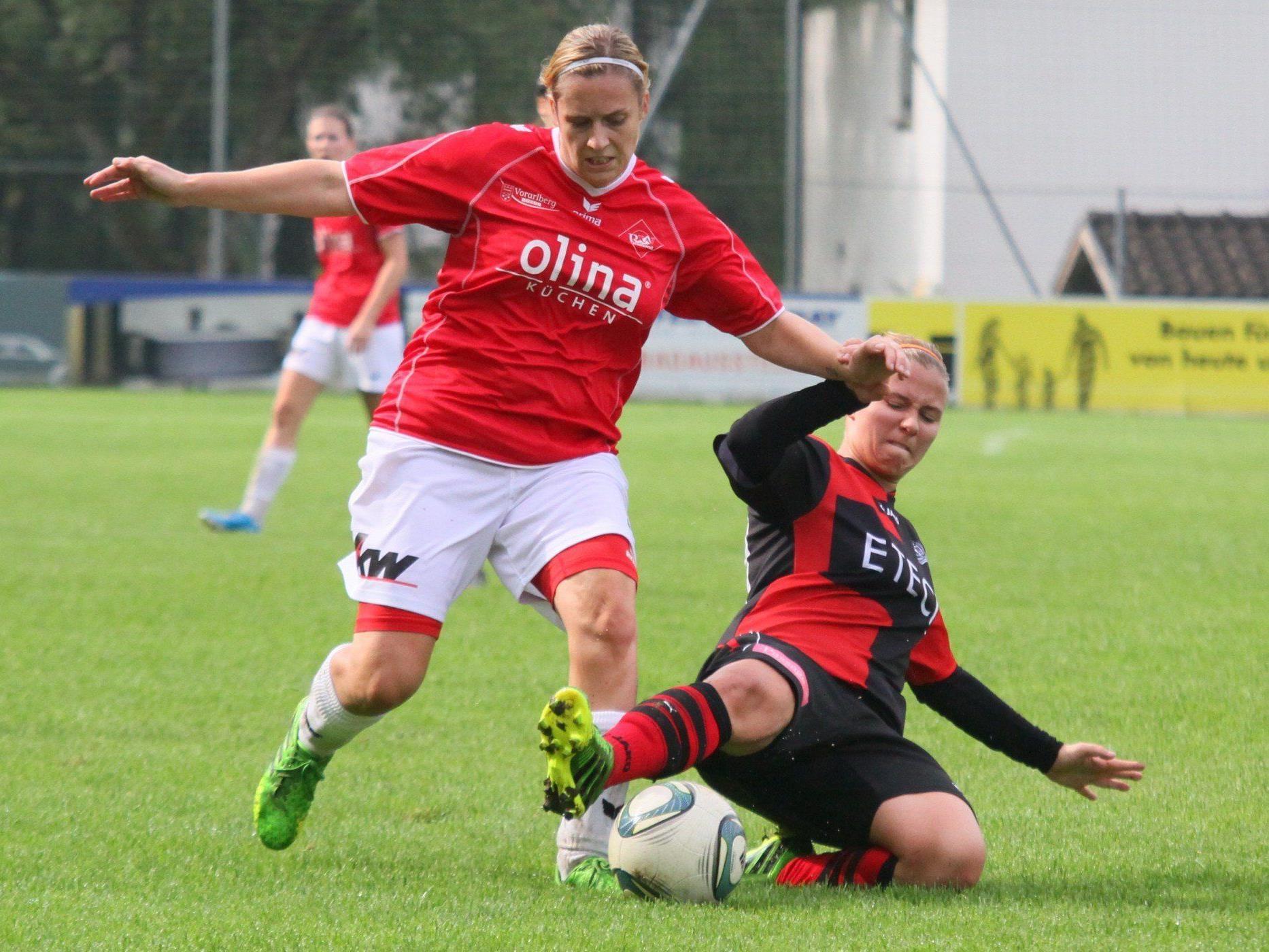 Rankweiler Ladies verloren im ÖFB Cup Achtelfinale trotz drei Treffern gegen Kleinmünchen.
