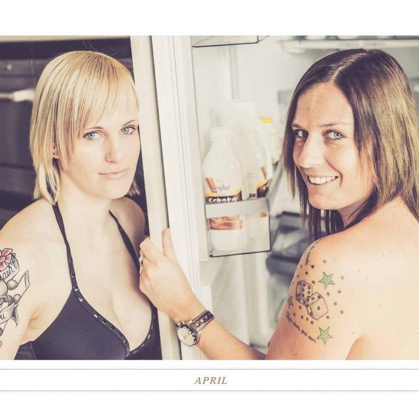 Linda Fritz und Anja Stadelmann waren mit viel Freude und Eifer beim Fotoshooting dabei.