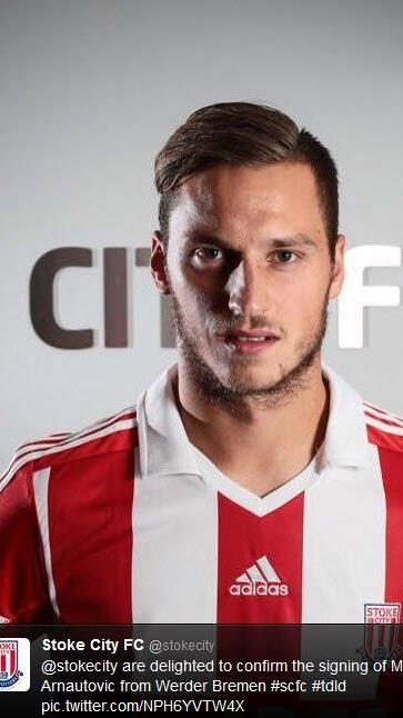 Stoke City informierte Fangemeinde über Arnautovic-Transfer via Twitter.
