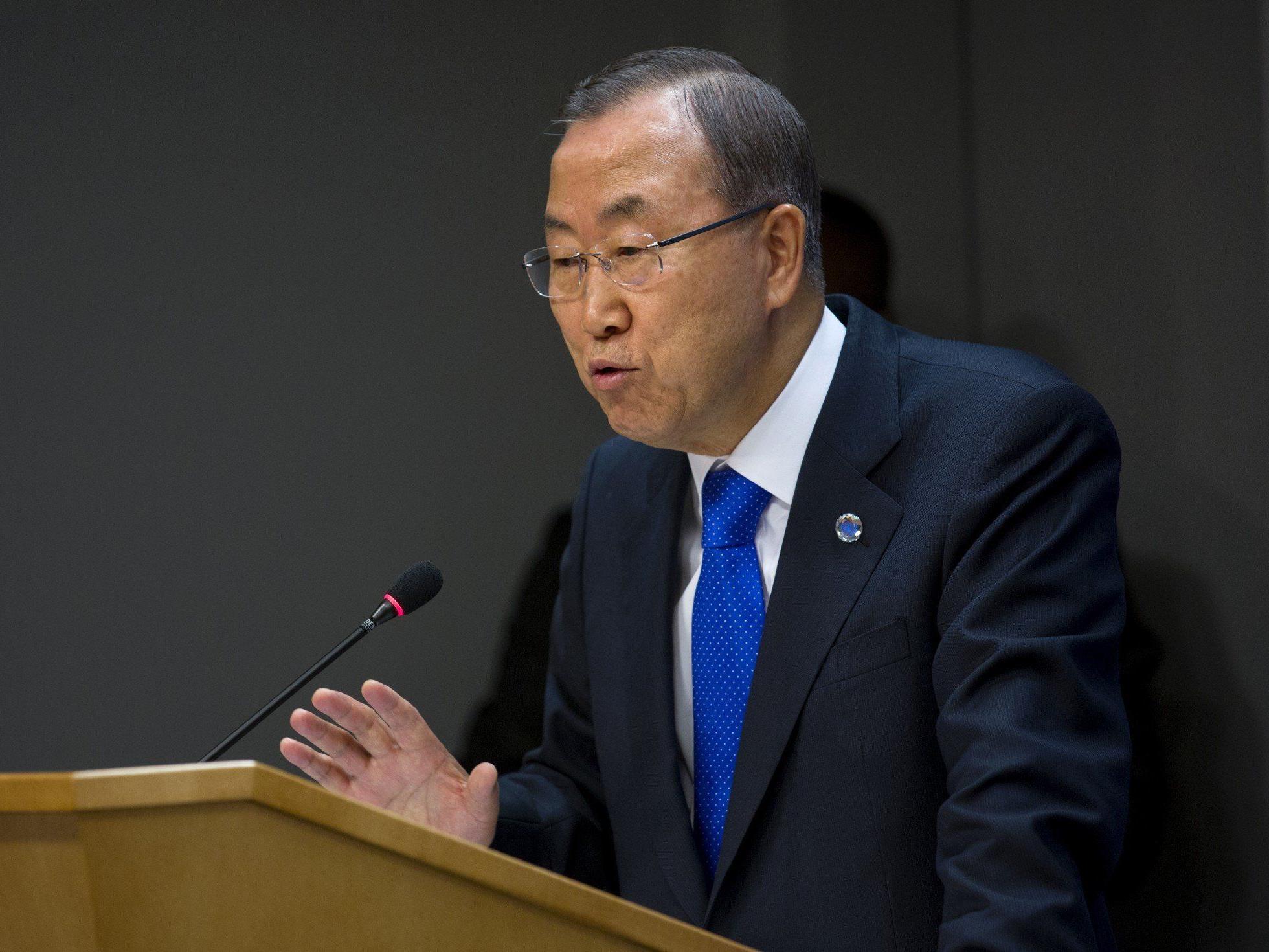 Generalsekretär Ban Ki-moon hat Bericht allerdings noch nicht erhalten