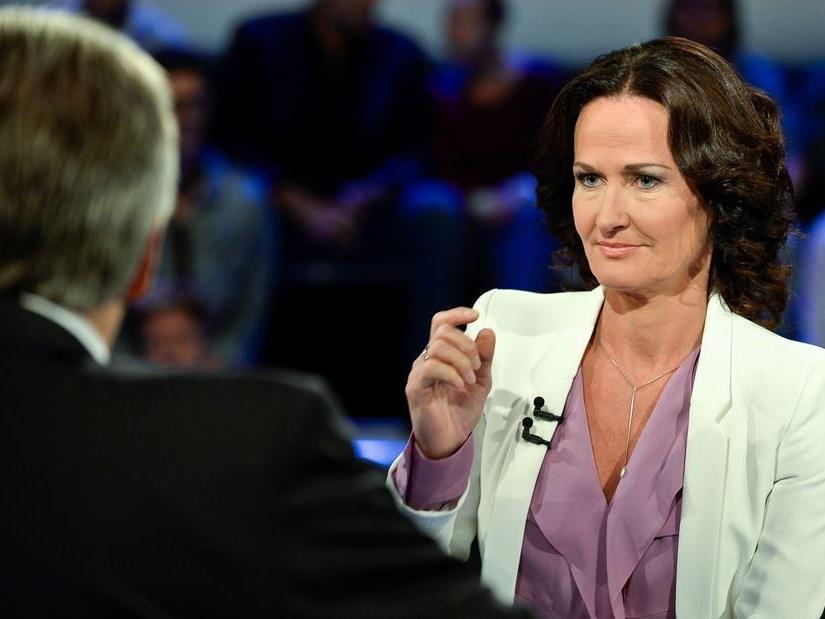 Im TV-Duell mit Werner Faymann: Grünen-Bundessprecherin Eva Glawischnig.