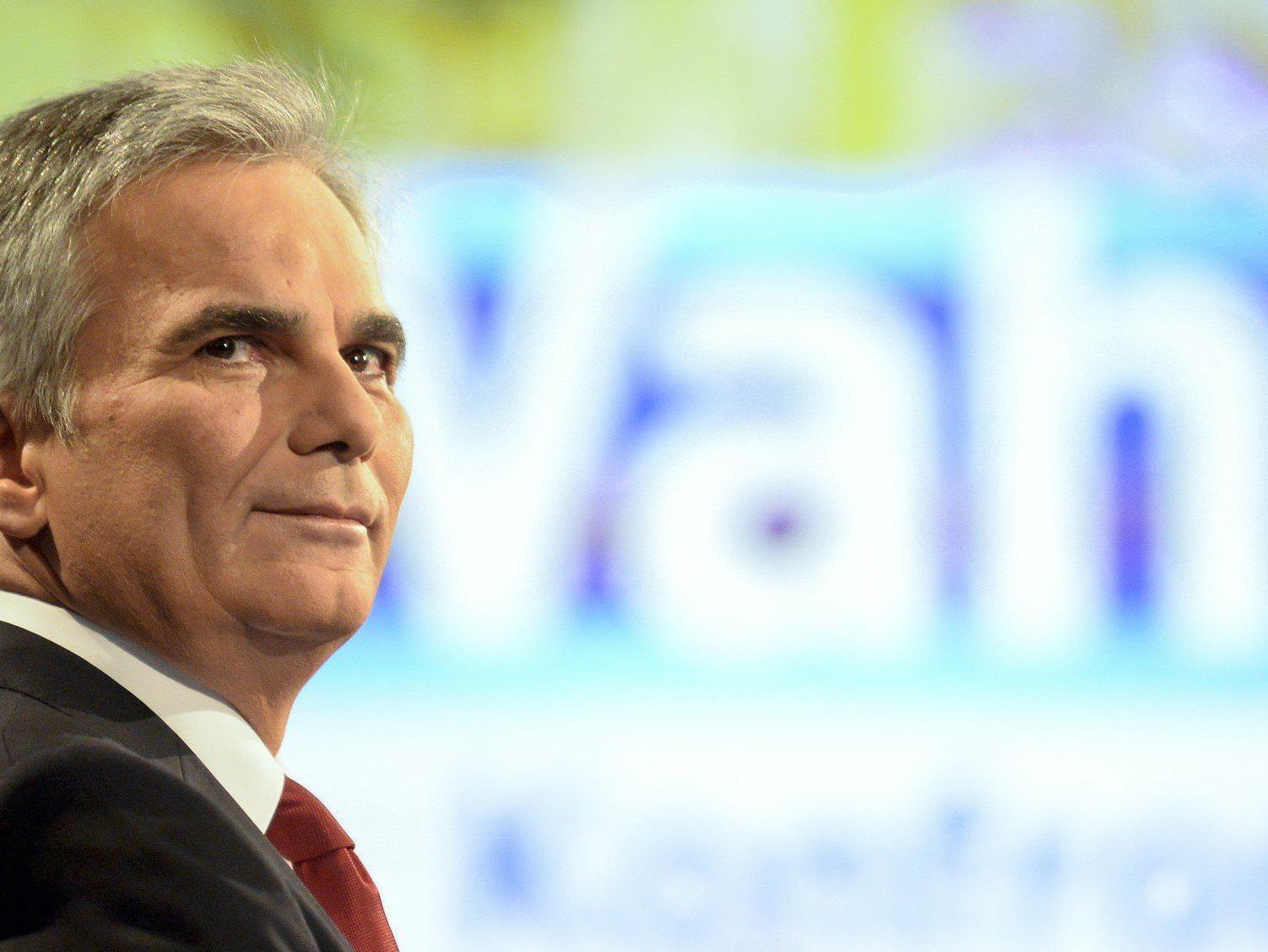 SPÖ-Chef Werner Faymann will im Bundeskanzleramt bleiben.