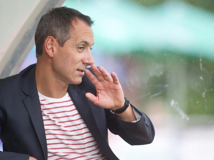 Bregenz-Coach Mladen Posavec sitzt fest im Sattel bei SW Bregenz.