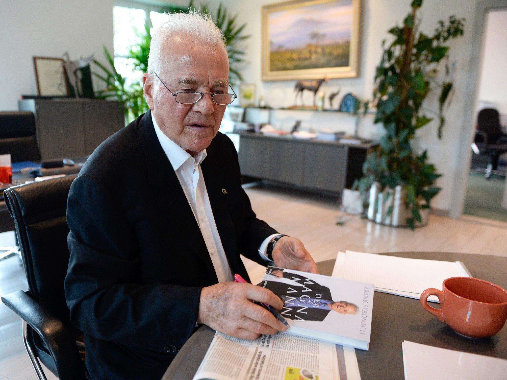 """Parteigründer Frank Stronach gab bisher """"20 bis 25 Mio. Euro"""" für die Partei aus."""
