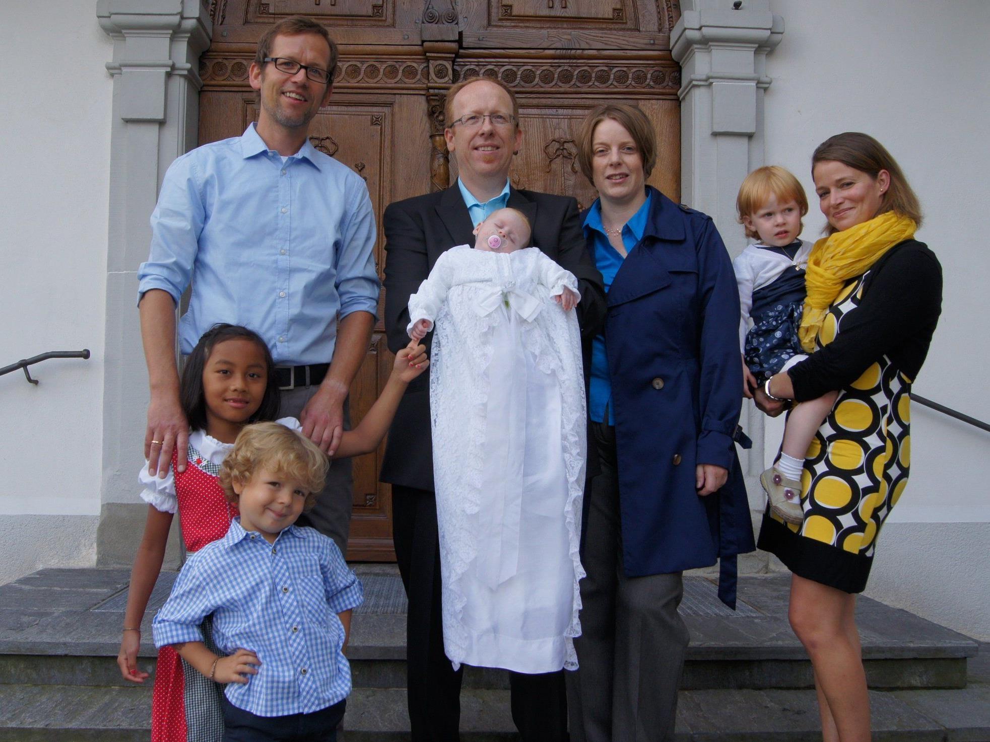 Taufe von Gabriela Luisa Kessler in der Pfarrkirche Haselstauden.