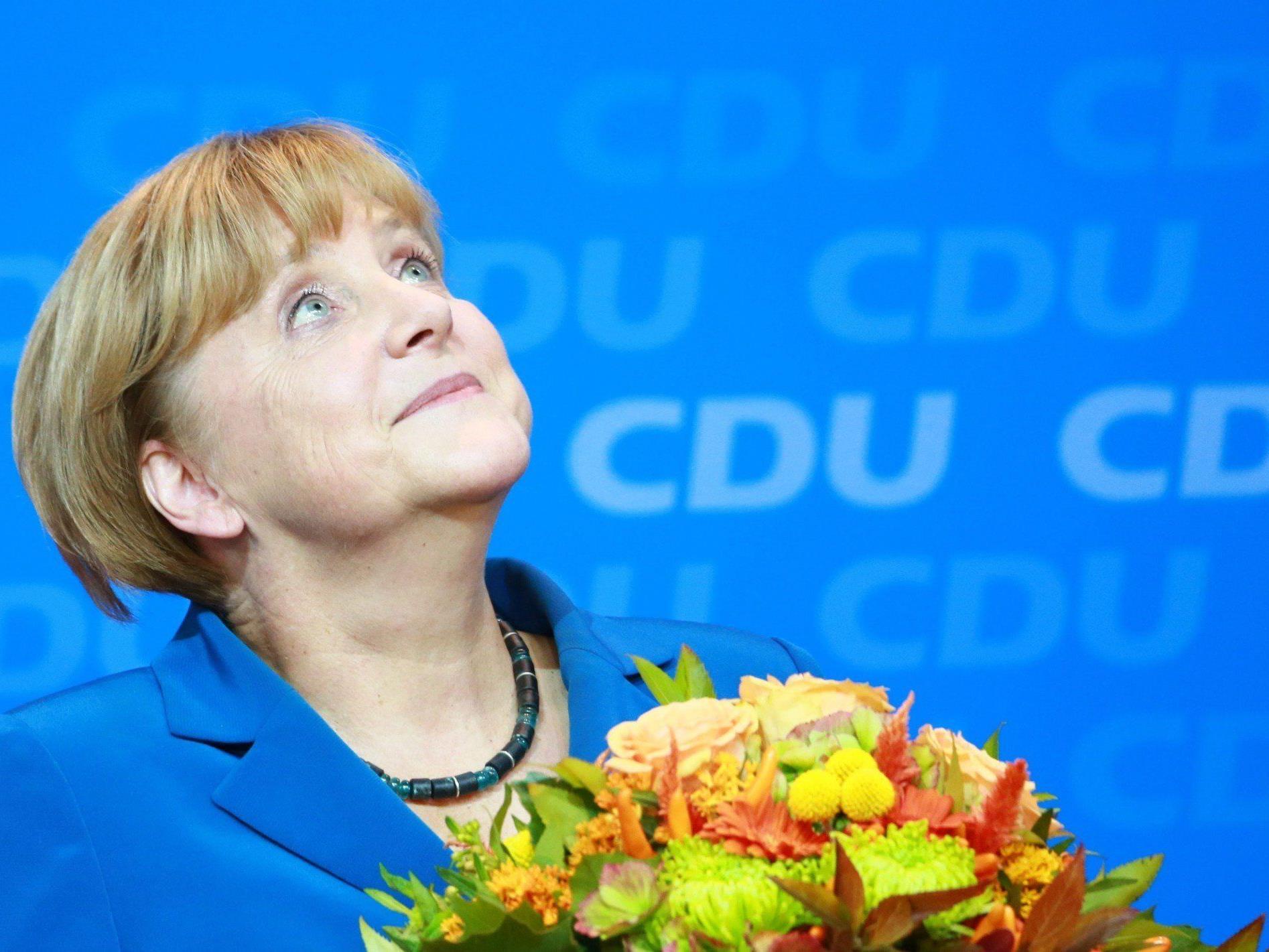 Kanzlerin Merkel im Höhenflug: