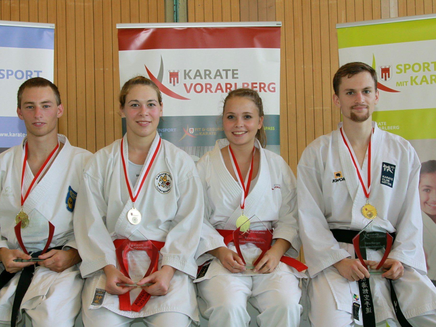 Drei neue Landesmeister brachten die landesweiten Titelkämpfe im Karate.