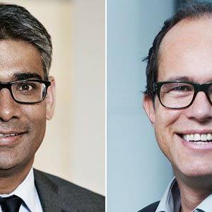 """""""business events"""" am 2. Oktober mit Omar Rehman und Sergej Kreibich (v.l.)"""