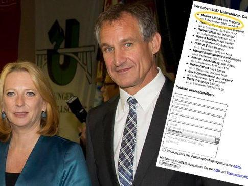 Linhart mit Bures: Der Bregenzer Bgm. unterstützt die Online-Petition.