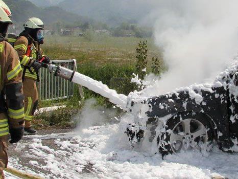 Die Feuerwehr Dornbirn führte die Nachlöscharbeiten durch.