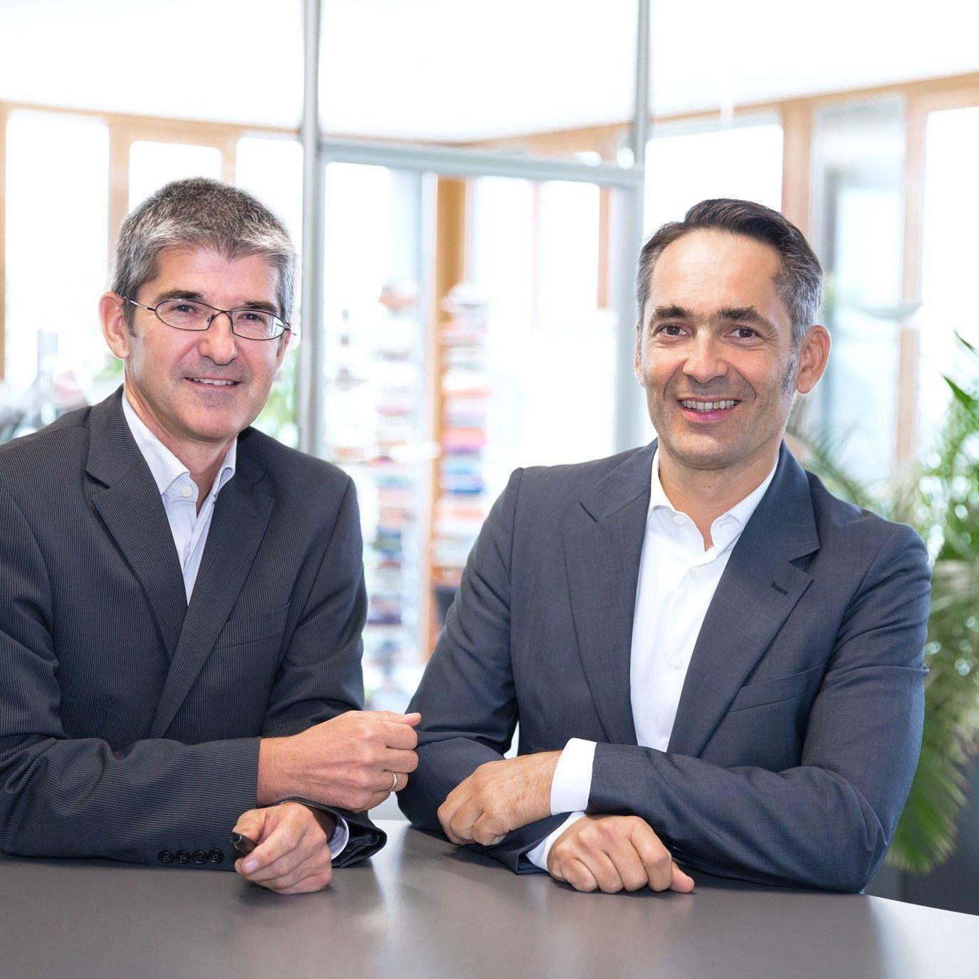 Geschäftsführer Rhomberg Holding: Ernst Thurnher und Hubert Rhomberg (v.l.n.r.)