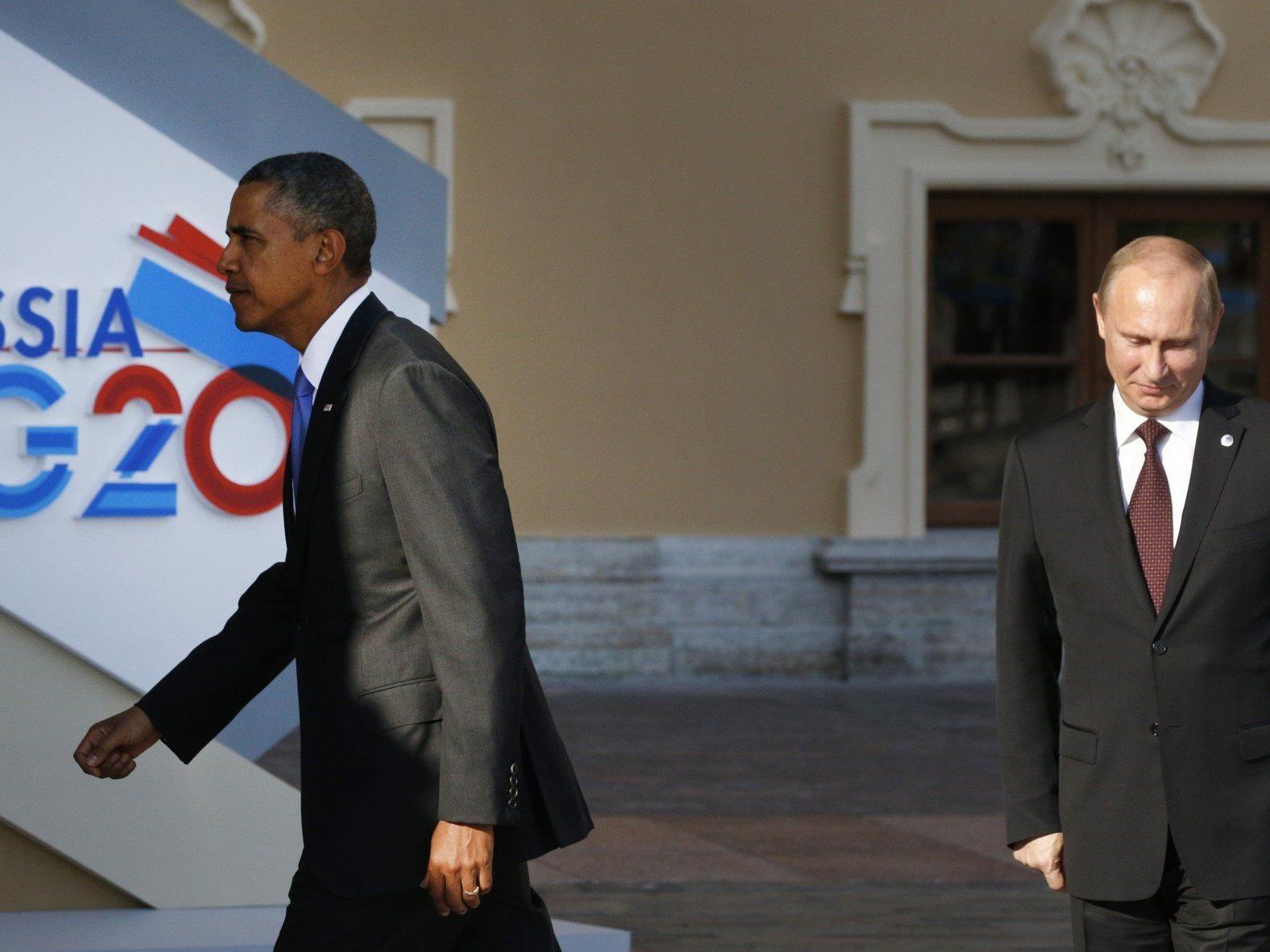 Obama und Putin: Die beiden mächtigsten Männer der Welt beim G-20-Gipfel.