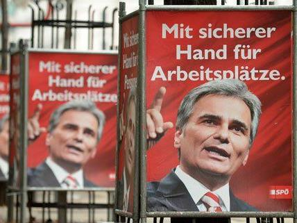 Es gibt Wirbel um die Finanzierung der SPÖ-Wahlplakate.