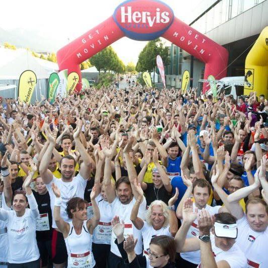 Schon vor dem Start herrschte beim 3. Vorarlberger Firmenlauf eine Megastimmung.