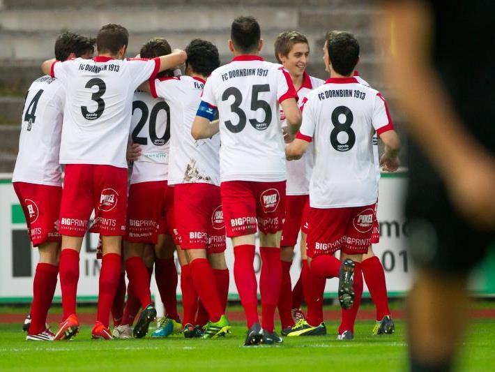 Dornbirn jubelt endlich über den ersten Saisonsieg. Gegen Bregenz gewann man mit 5:2.