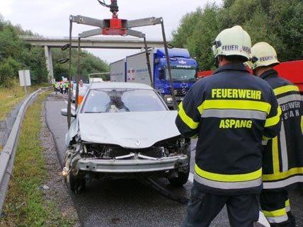 Nach dem Unfall staute es auf der A2 in Niederösterreich.