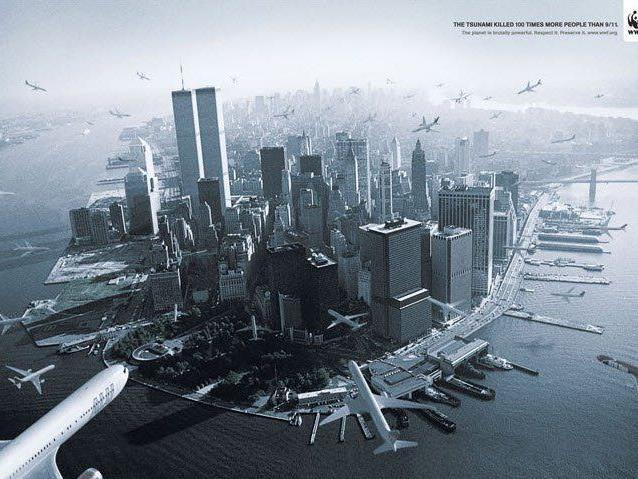 Aufregerbild: WWF-Werbung setzt auf 9/11-Terror