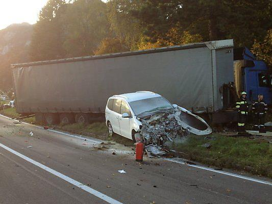 Vier Fahrzeuge waren in den Unfall verwickelt