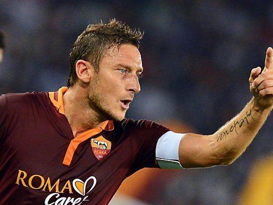 Totti und seine Roma bekommt es mit Napoli zu tun