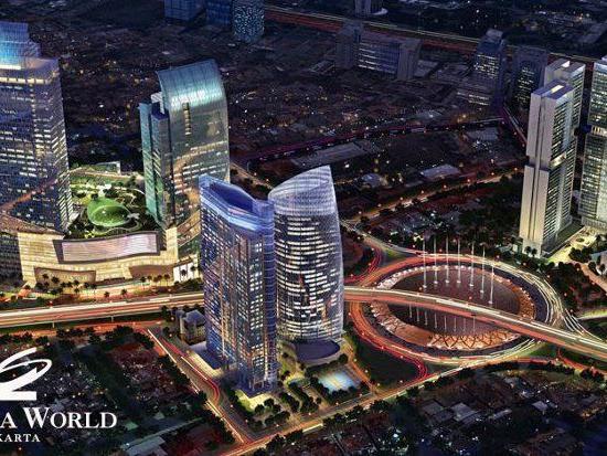 Das 6. höchste Hotel der Welt: Ciputra World Hotel Tower in Jakarta.