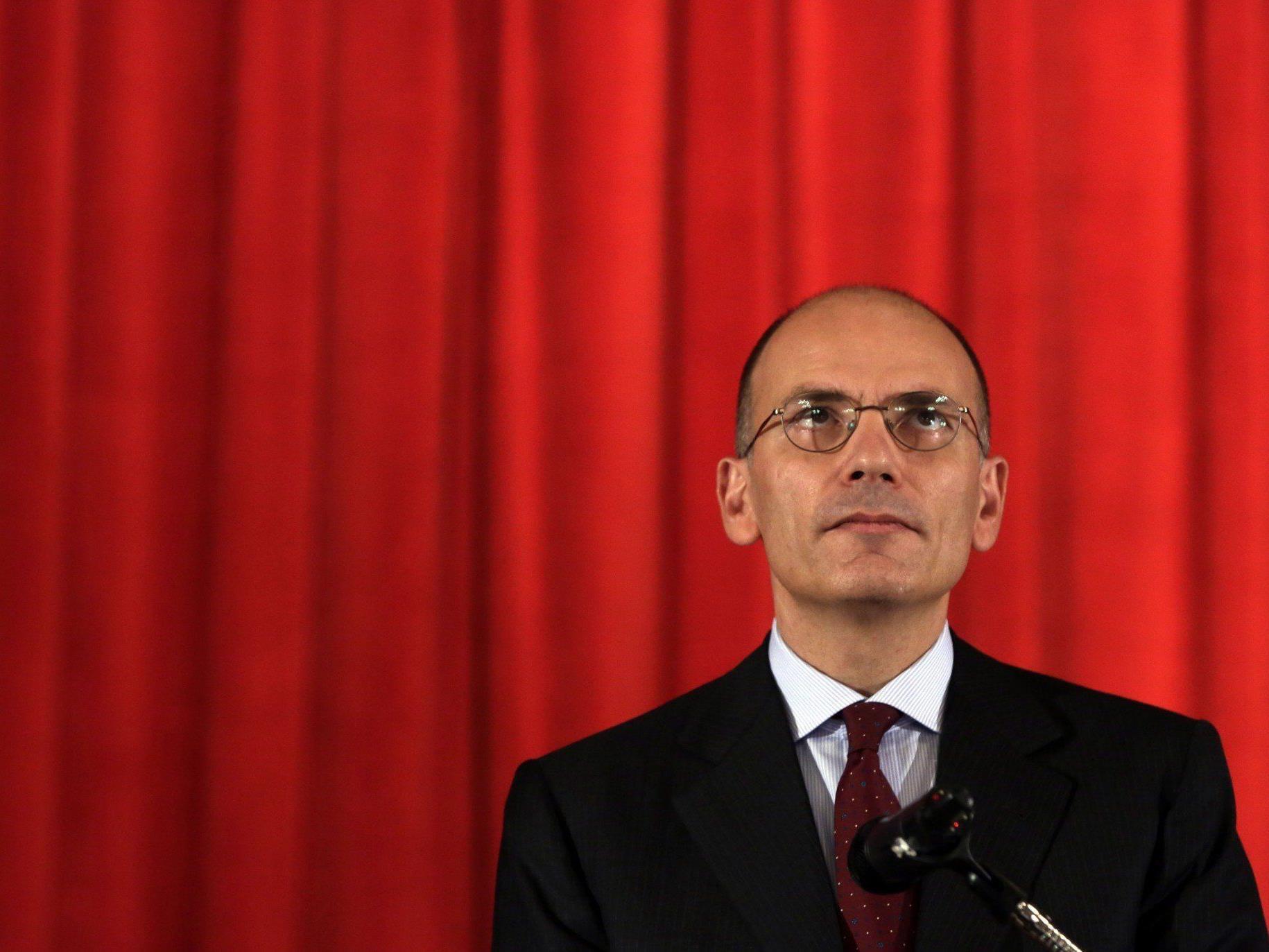 Enrico Letta stellt der Regierung am Mittwoch die Vertrauensfrage.