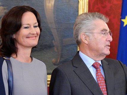 Am Freitagvormittag war Eva Glawischnig bei Heinz Fischer auf Empfang.