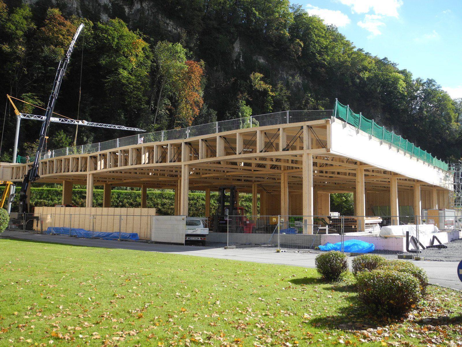 Das neue Altstoffsammelzentrum der Stadt Feldkirch ist unter Dach!