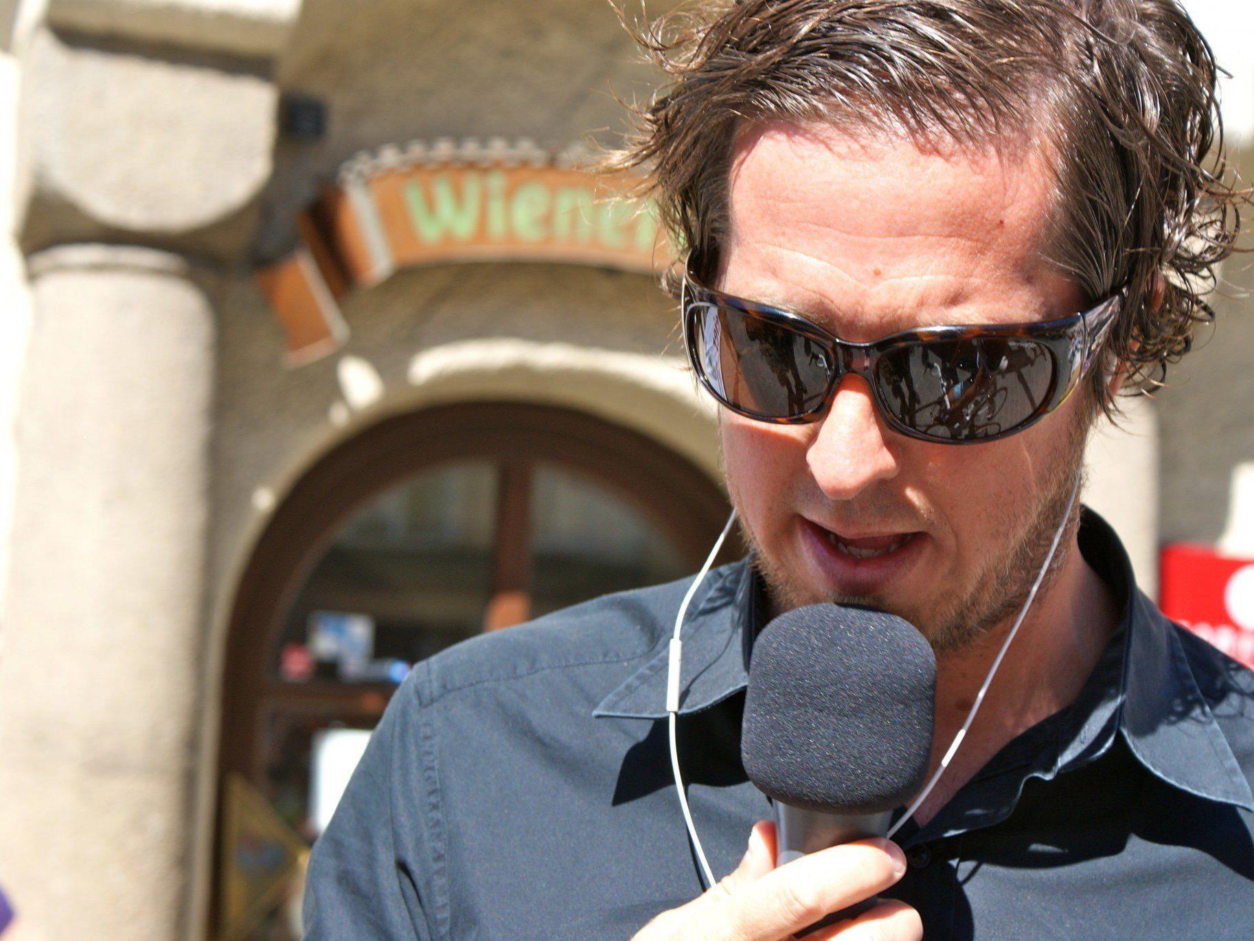 Der Rankweiler Christian Chisi Speckle ist Moderator bei Sport-Großevents und auch Organisator.