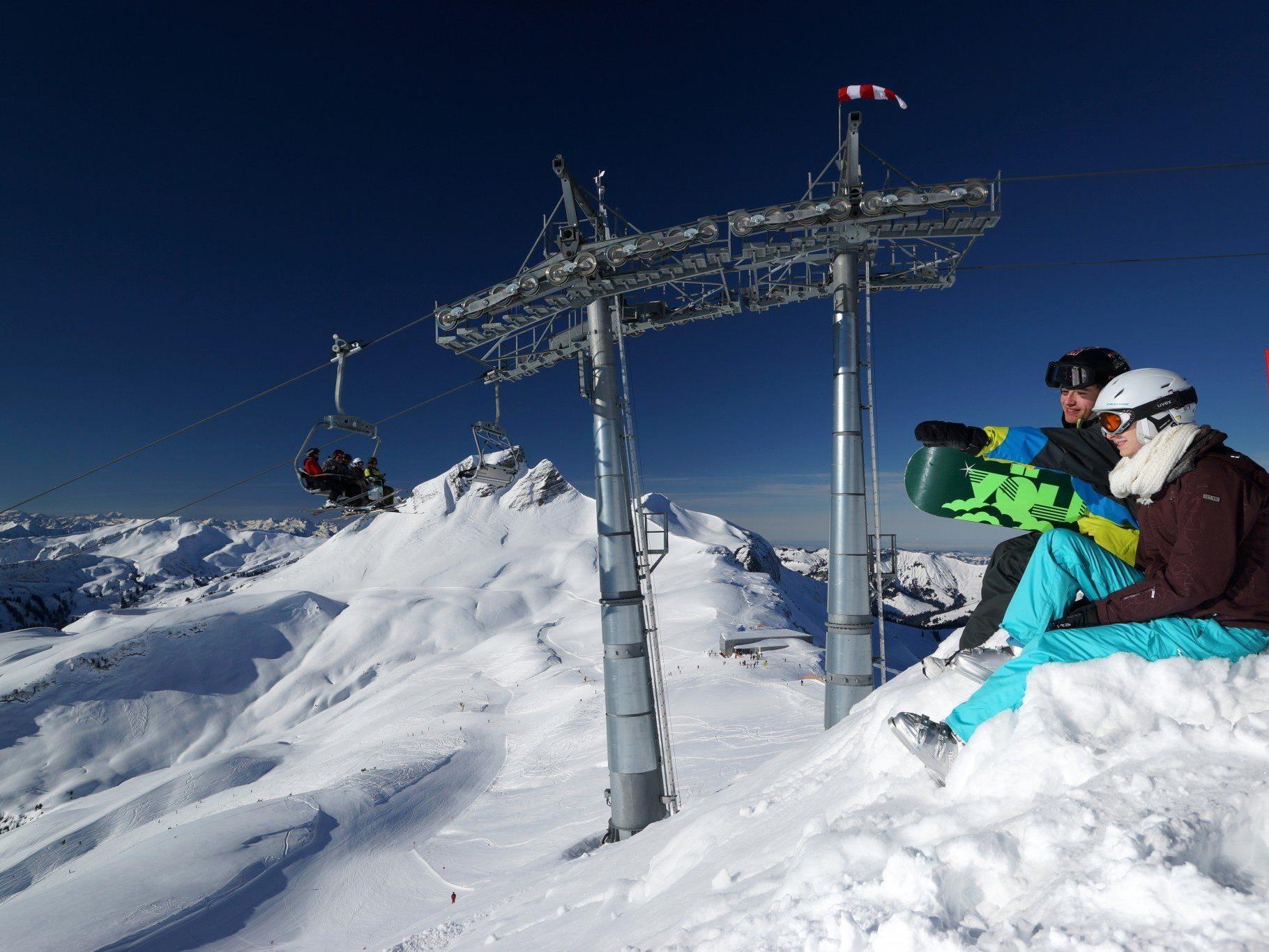 Am 12. Dezember wird der neue 8er-Sessellift im Skigebiet Mellau Damüls eröffnet.