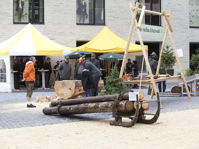 Die Rankweiler Agrargemeinschaft präsentiert sich auf dem Herbstmarkt.