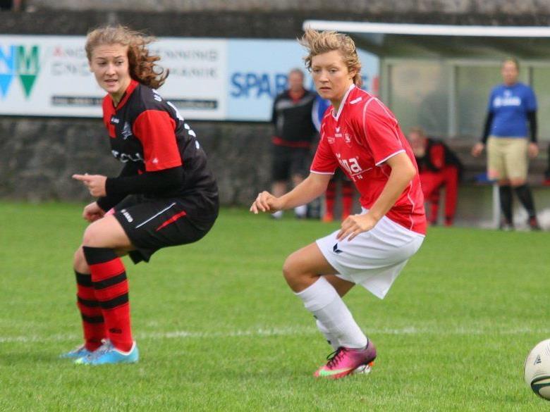 Rankweil-Stürmerin Carina Gasparini erzielte beim 11:0 Schützenfest in Schlins fünf Tore.