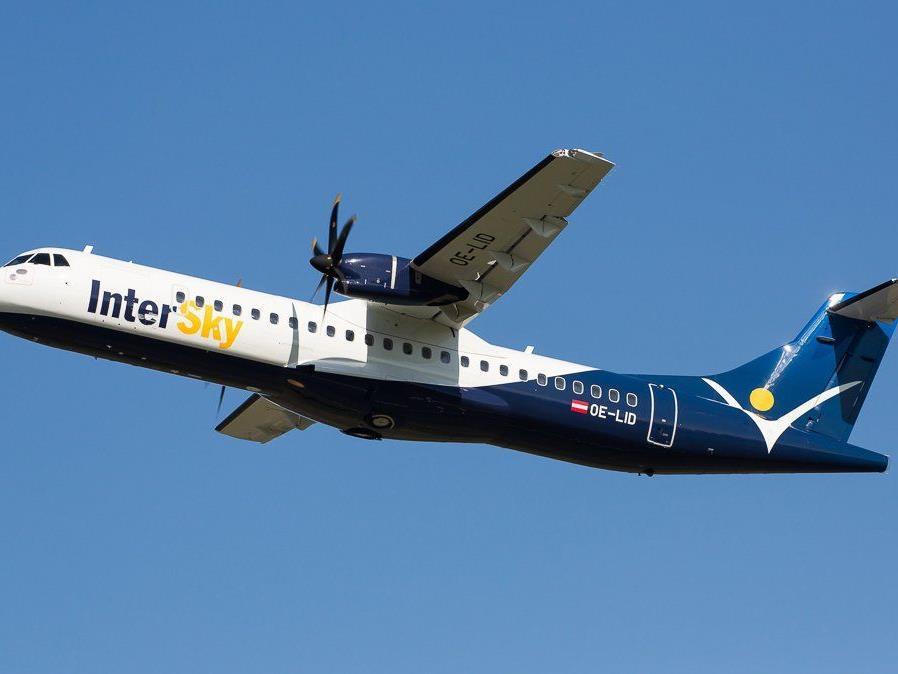 Fliegt andere Destinationen statt Wien an: Eine der neuen ATR 72 der regionalen Linie InterSky.