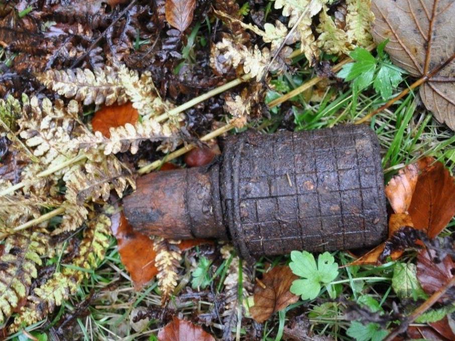 Fund einer Stielhandgranate am Bödele.