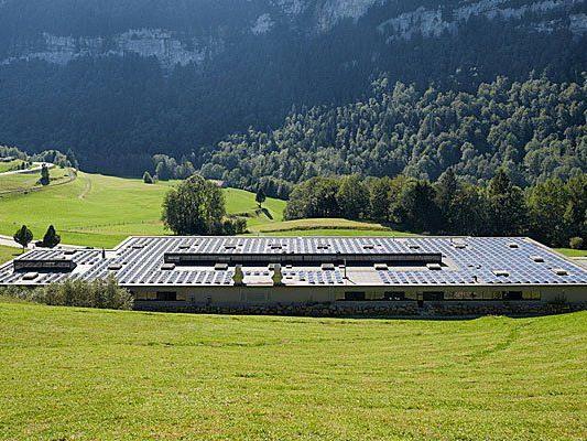 Die größte Photovoltaikanlage im Bregenzerwald.