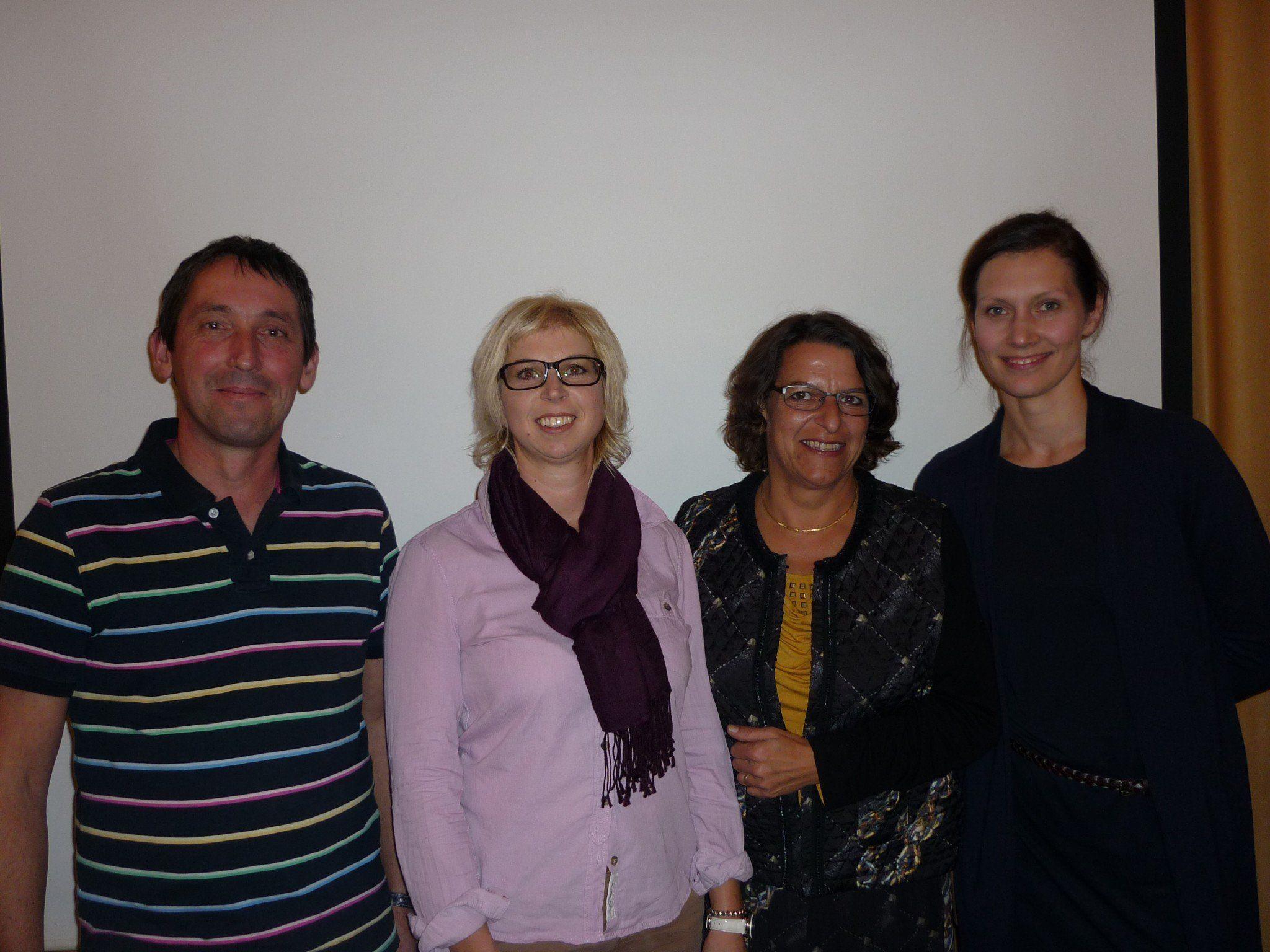 Christian Beiser (Schriftführer), Veronika Sonderegger-Kiesler (Obfrau), Beatrix Mikaele (Obfraustellvertreterin) und Barbara Mader-Riml (Kassierin)