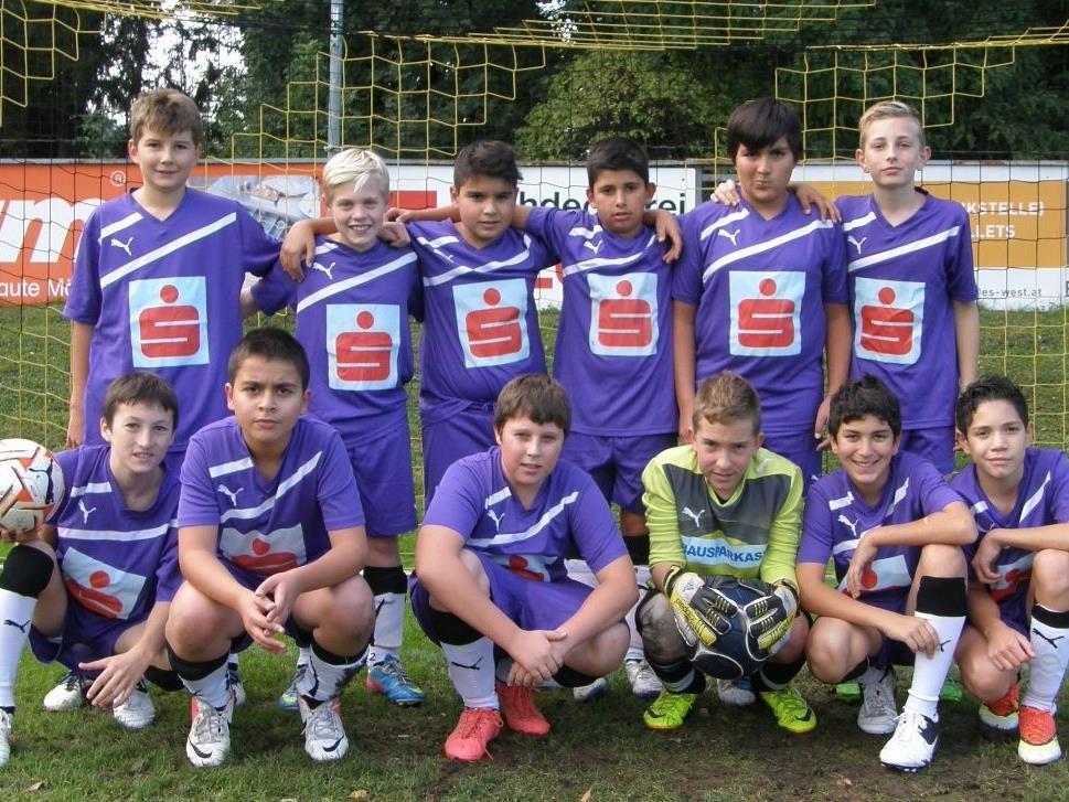 Das neu formierte Schülerliga-Team der VMS Hörbranz.