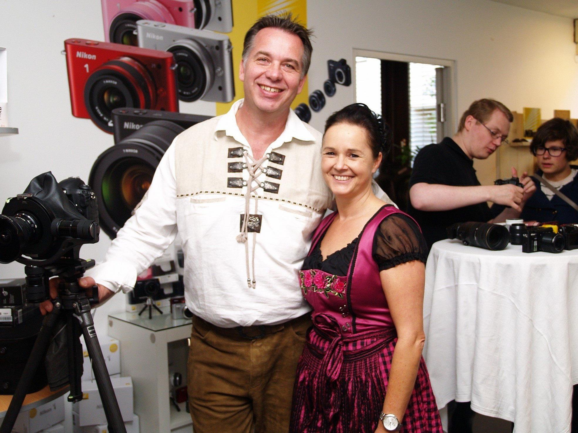 Kurt und Hermine Hebenstreit konnten bei der Hausmesse viel Besucher begrüßen.