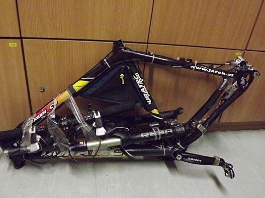 Teil der Diebesbeute: Ein Fahrradrahmen