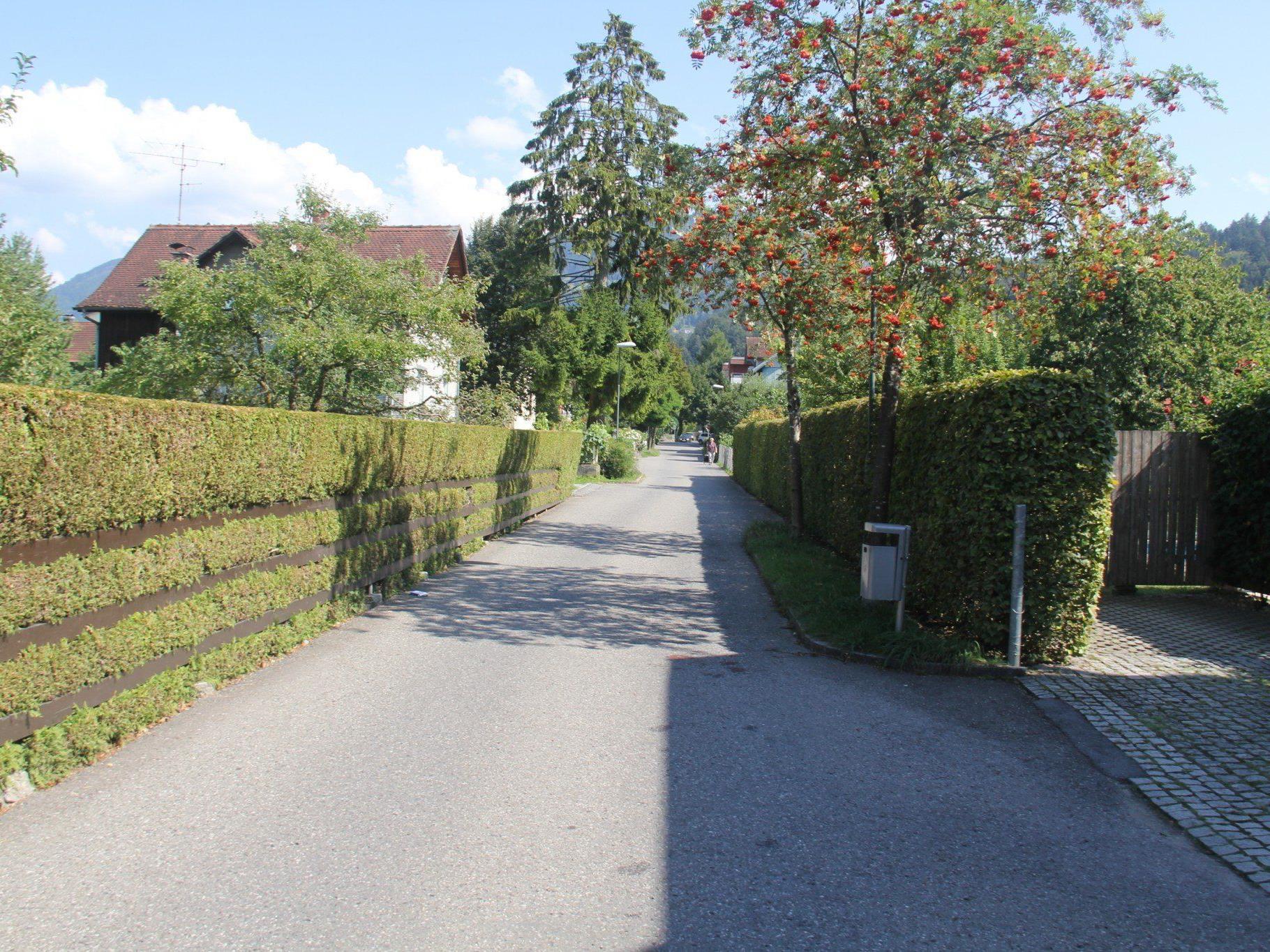 VOL.AT stellt die Straßen in Vorarlberg in einer großen Serie vor.  Im Bild die St.-Fridolin-Gasse.