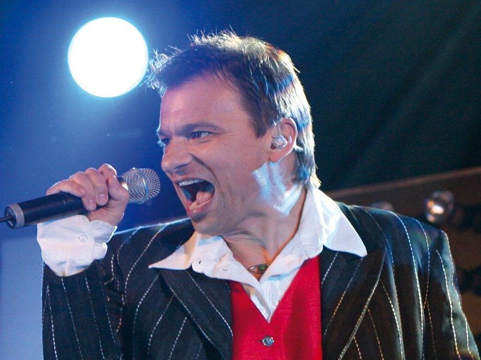 """Wolfahrt.jpg: Markus Wolfahrt, der ehemalige Frontmann der """"Klostertaler"""", singt zugunsten von Menschen mit Behinderungen."""