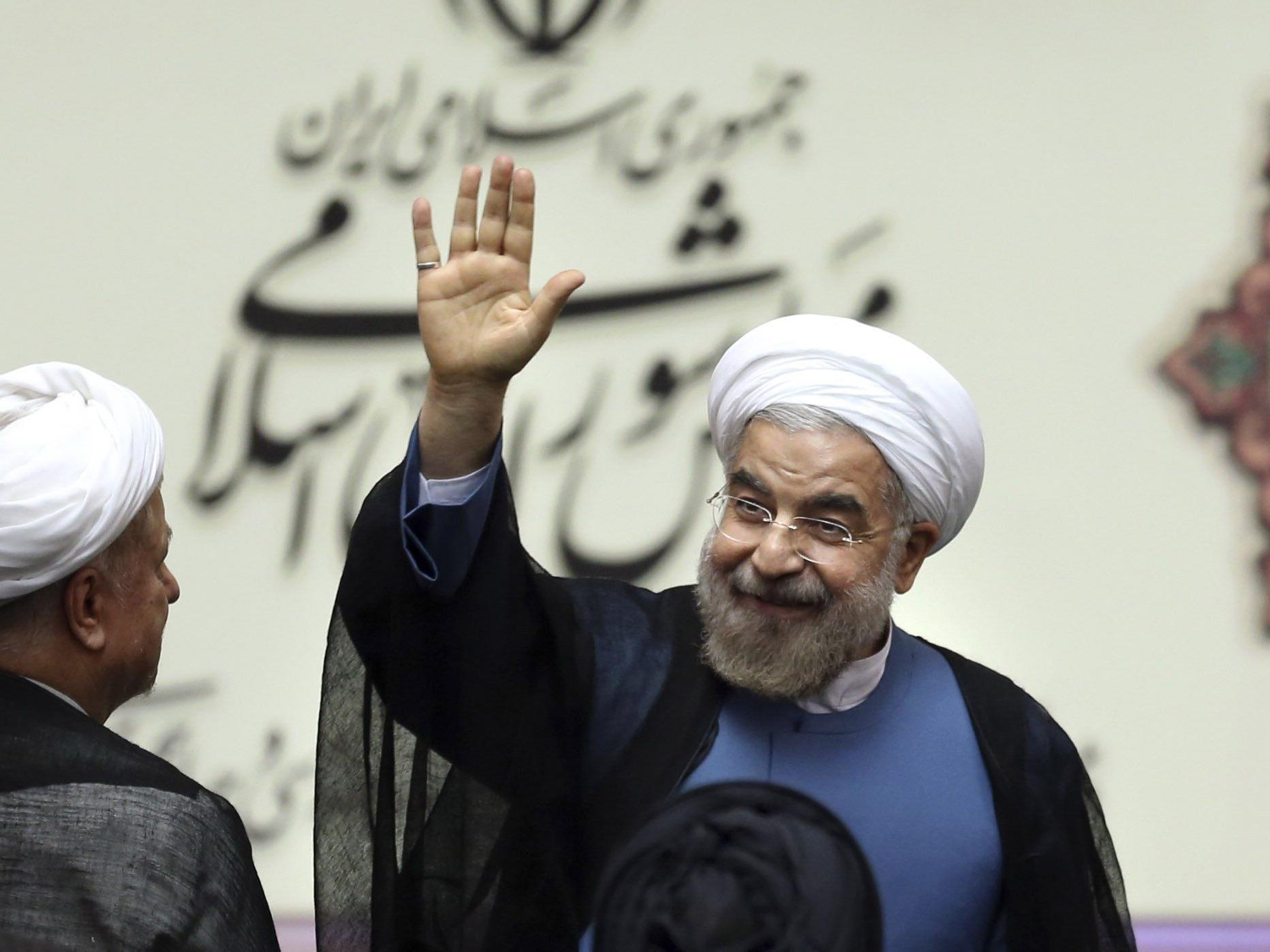 Debatte um Antiamerikanismus im Iran nach den moderaten Tönen von Präsident Hassan Rohani.