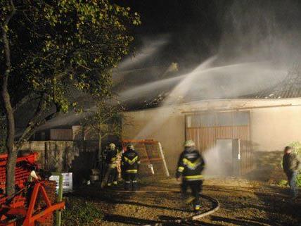 Bei dem Brand einer Lagerhalle in Rohrau wurde niemand verletzt.