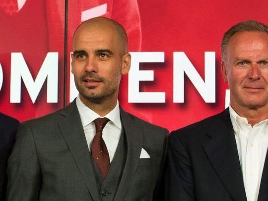Sammer, Guardiola, Rummenigge und Hoeneß - die Spitze des FC Bayern München.