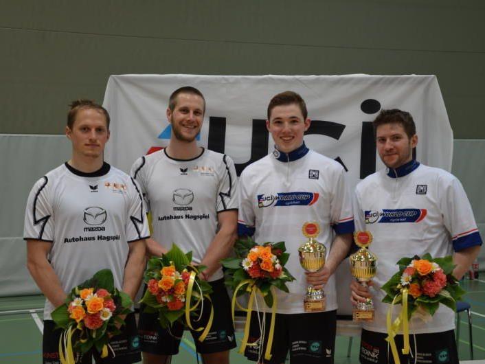 Radball der Extraklasse beim Weltcupturnier in der Höchster Rheinauhalle.