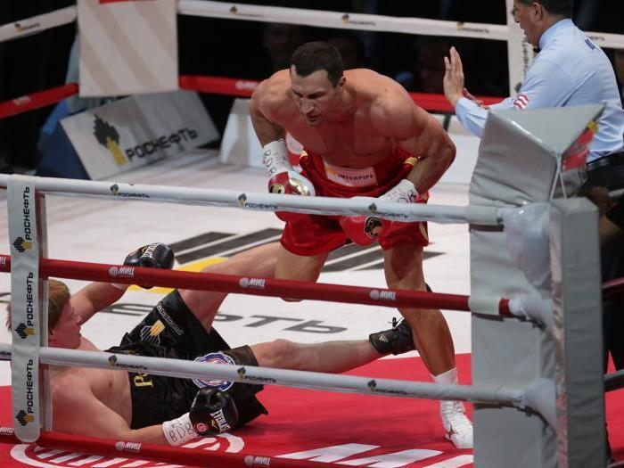 Klitschko schickte seinen Gegner auf die Bretter