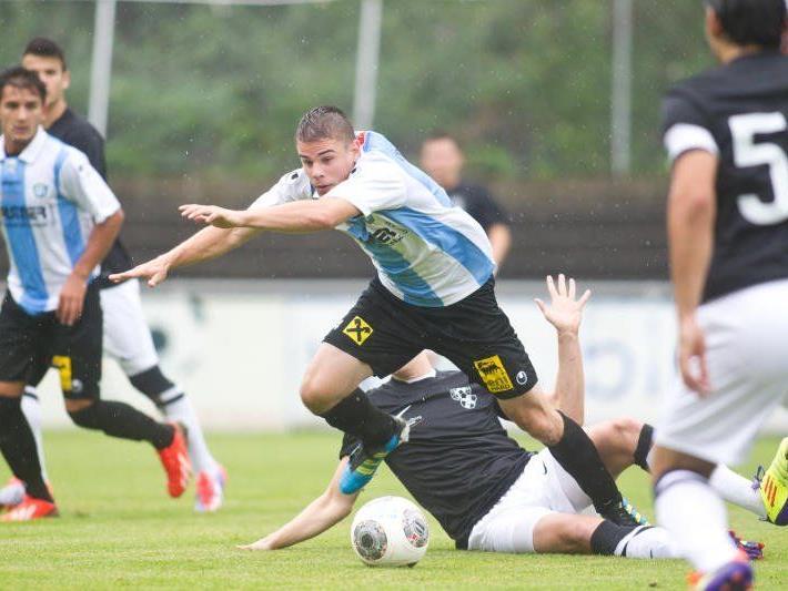 Im Waldstadion treffen der FC Hard und die Altach Amateure gegenüber.