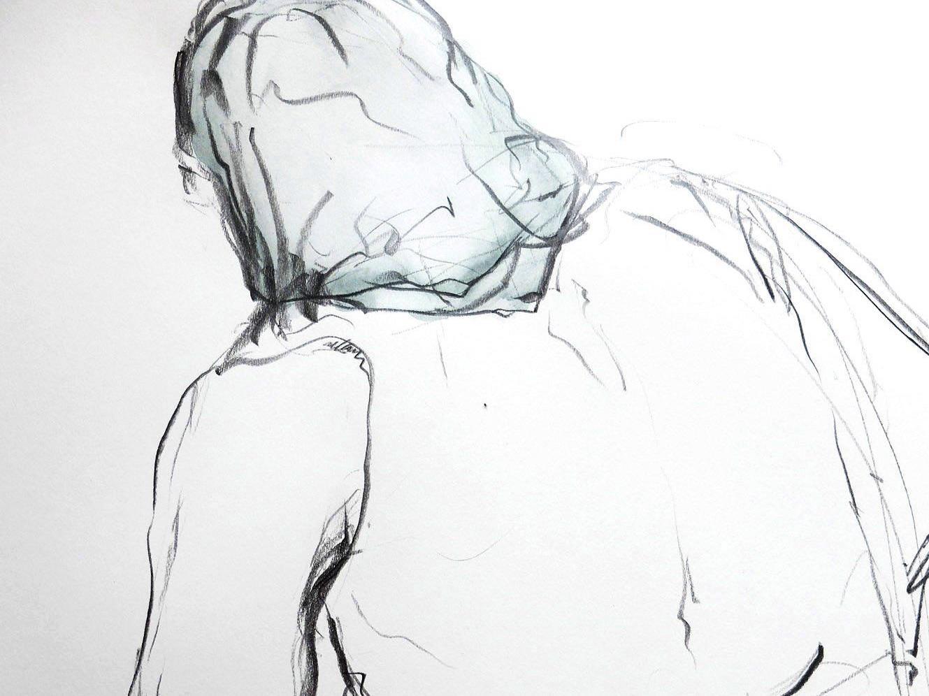 """Ausschnitt der Studie """"Die Jäterin"""" von Christian Ruschitzka."""