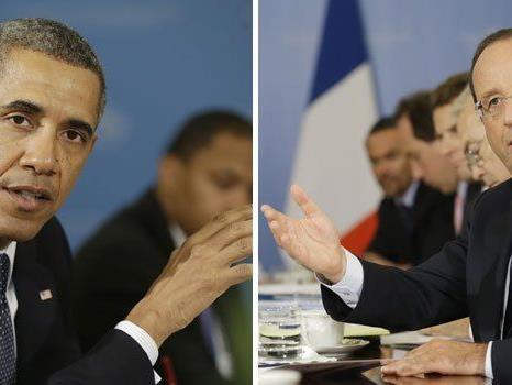 Frankreichs Präsident Hollande ist alles andere als amüsiert.