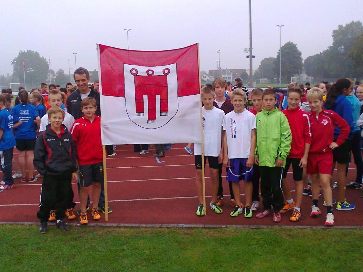 Das Leichtathletik-Team der Sportmittelschule Rankweil West.